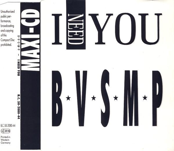 BVSMP - I Need You - CD Maxi