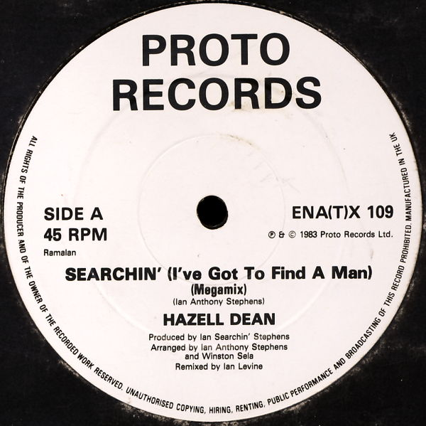 DEAN, HAZELL - Searchin' (I've Got To Find A Man) - 12 inch x 1