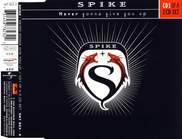 SPIKE - Never Gonna Give You Up - CD Maxi