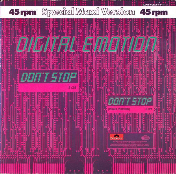 DIGITAL EMOTION - Don't Stop - Maxi x 1
