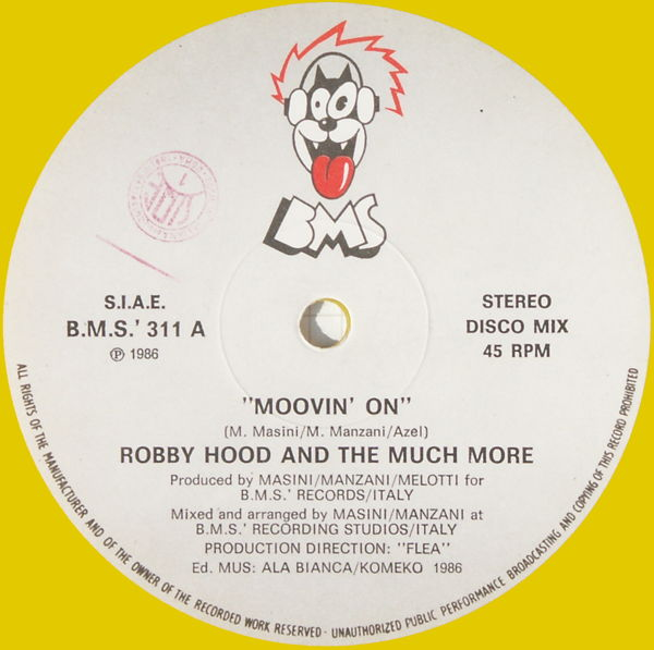 ROBBY HOOD & THE MUCH MORE - Movin' On - Maxi x 1