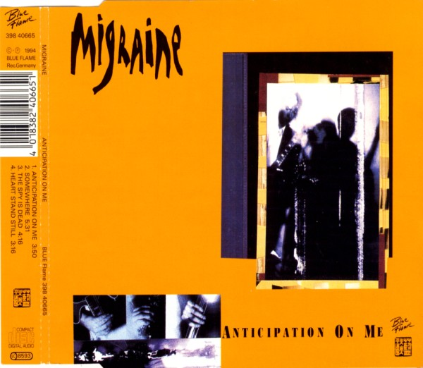 MIGRAINE - Anticipation On Me - CD Maxi