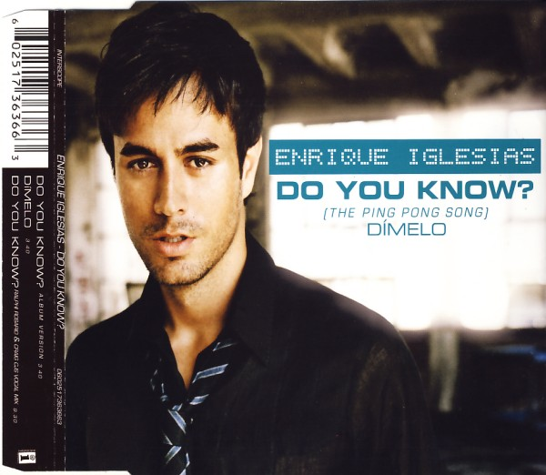 IGLESIAS, ENRIQUE - Do You Know (The Ping Pong Song) - MCD