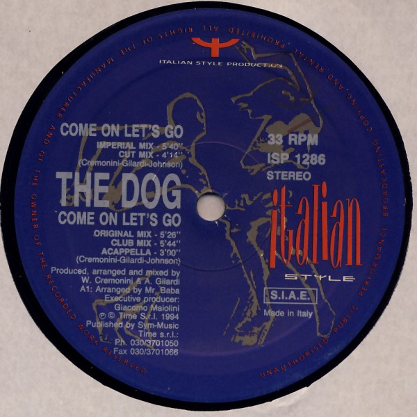 DOG - Come On Let's Go - 12 inch x 1