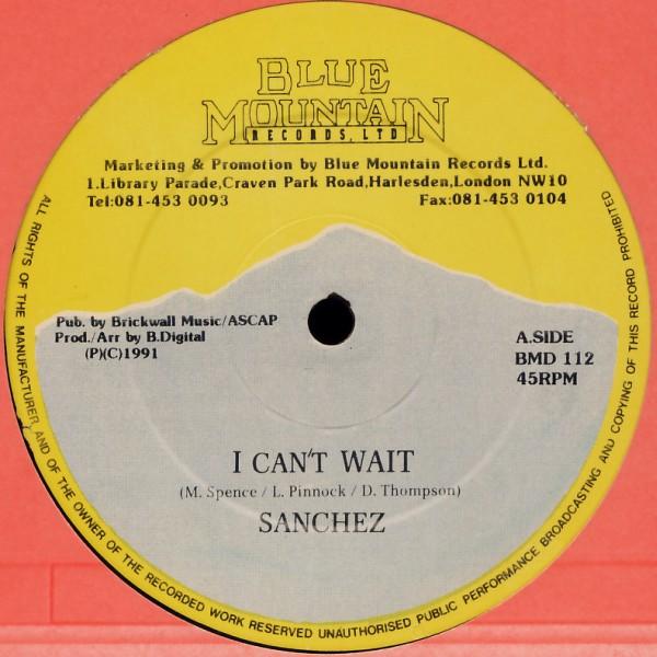 SANCHEZ - I Can't Wait - 12 inch x 1