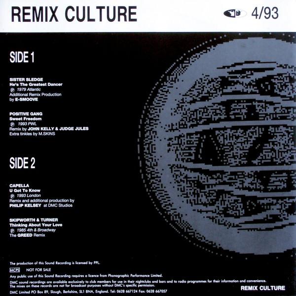 VARIOUS - DMC Remix Culture 4/93 - 33T