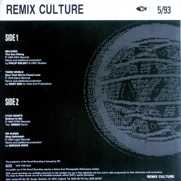 VARIOUS - DMC Remix Culture 5/93 - 33T