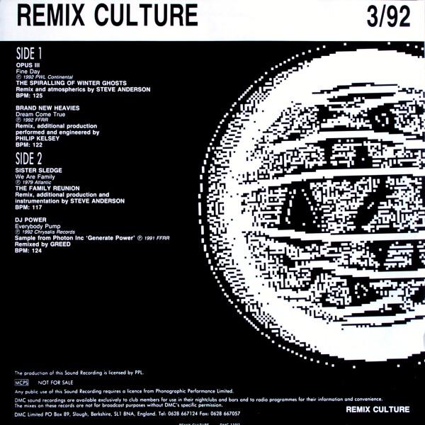 VARIOUS - DMC Remix Culture 3/92 - 33T