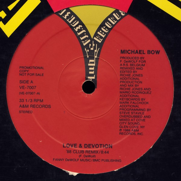 BOW, MICHAEL - Love & Devotion The '88 Remix - Maxi x 1
