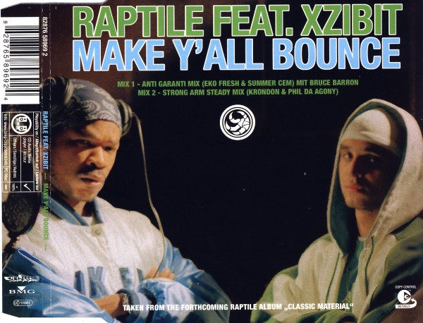 RAPTILE FEAT. XZIBIT - Make Y'all Bounce - CD Maxi