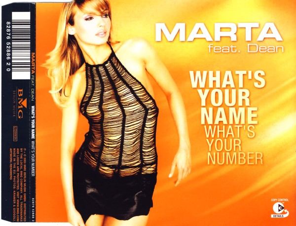 MARTA - What's Your Name (What's Your Number) - CD Maxi