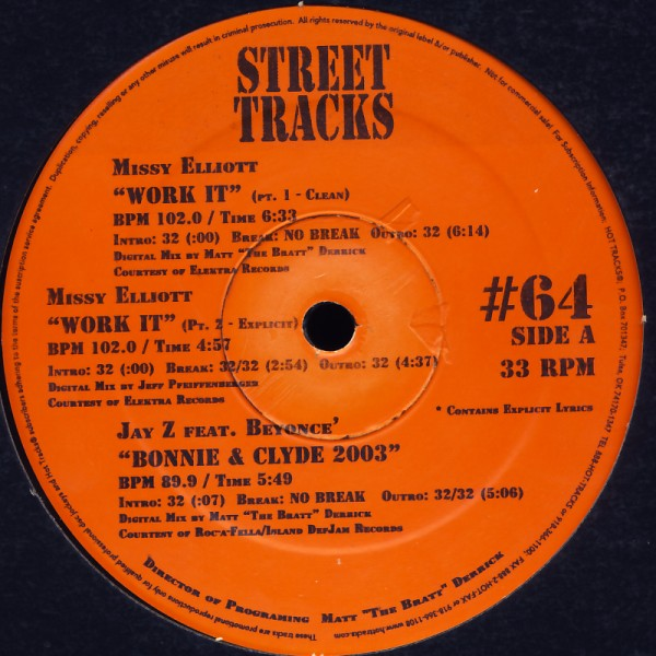 VARIOUS - Street Tracks #64 - 12 inch x 1