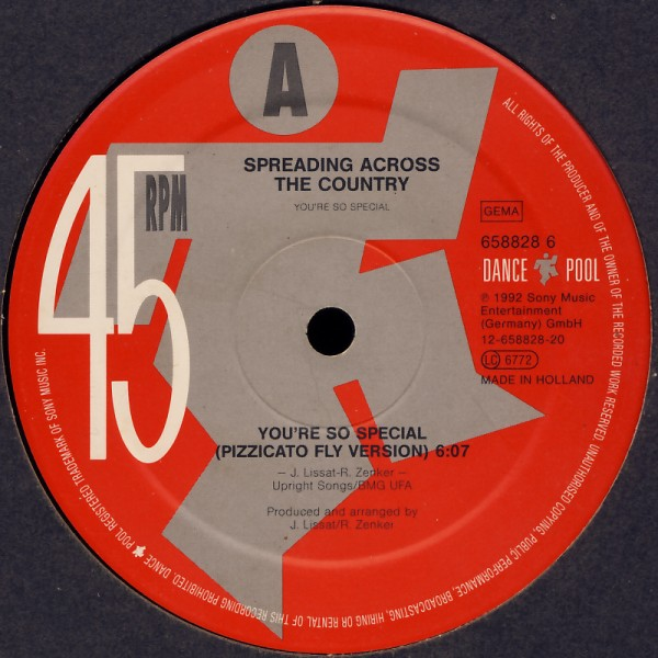 SPREADING ACROSS THE COUNTRY - You're So Special - 12 inch x 1