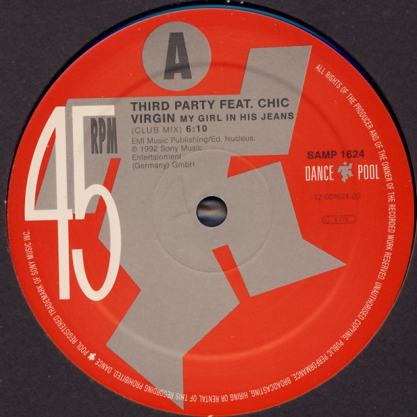 THIRD PARTY FEAT. CHIC VIRGIN - My Girl In His Jeans - 12 inch x 1
