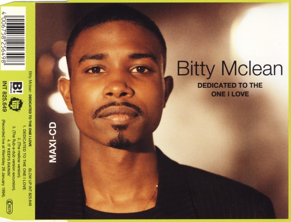 MCLEAN, BITTY - Dedicated To The One I Love - CD Maxi