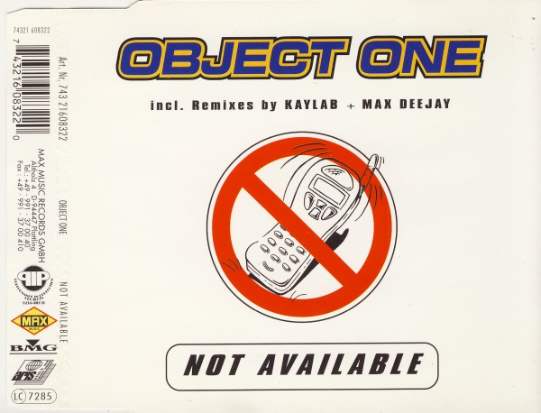 OBJECT ONE - Not Available - CD Maxi