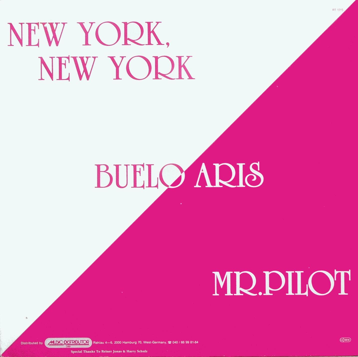 BUELO ARIS - New York, New York / Mr. Pilot - 12 inch x 1