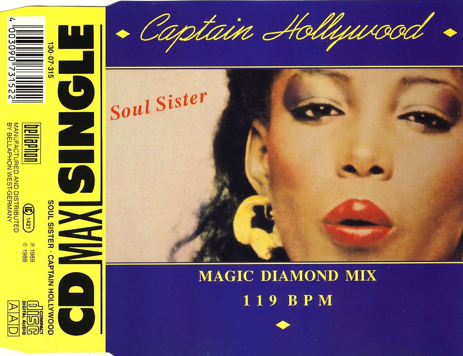 CAPTAIN HOLLYWOOD - Soul Sister - CD Maxi