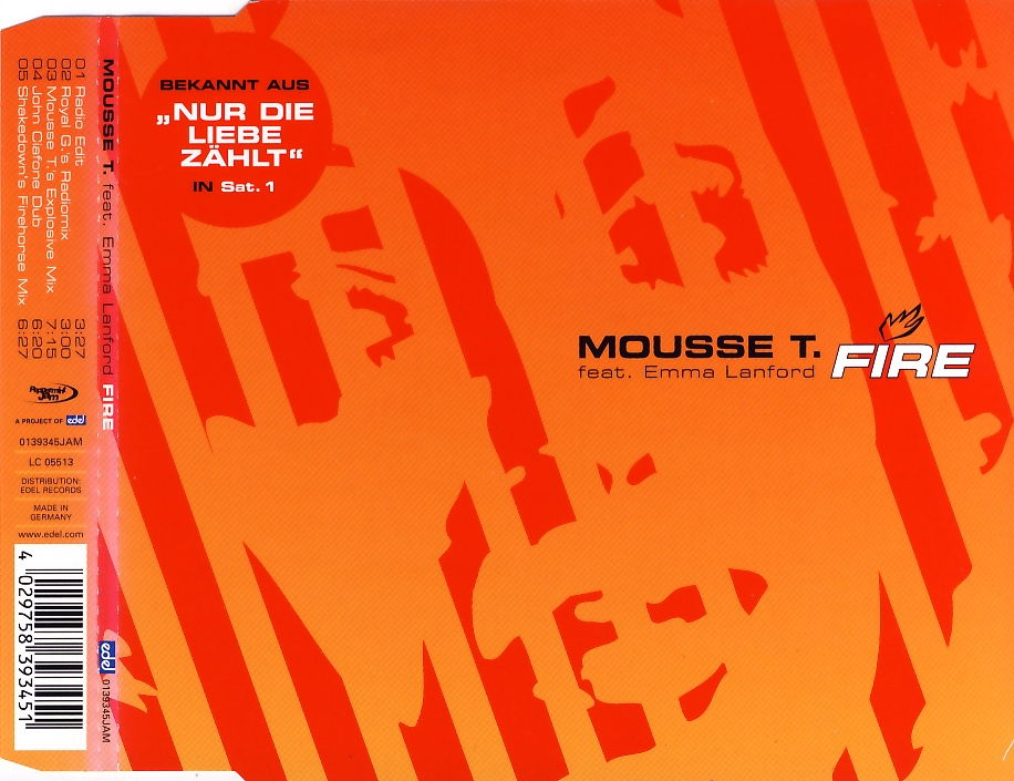 MOUSSE T. FEAT. EMMA LANFORD - Fire - CD Maxi