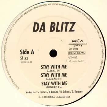 DA BLITZ - Stay With Me - Maxi x 1